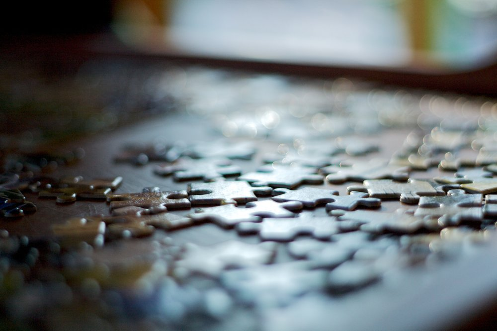 """Sometimes, we do puzzles …"""