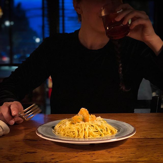 💨Cold Weather Season Is Here! 💨 Warm Up With House Made Pasta! . Tonight's Special: Butternut Squash Cacio E Pepe Parmesan | Long Pepper | Herbs .