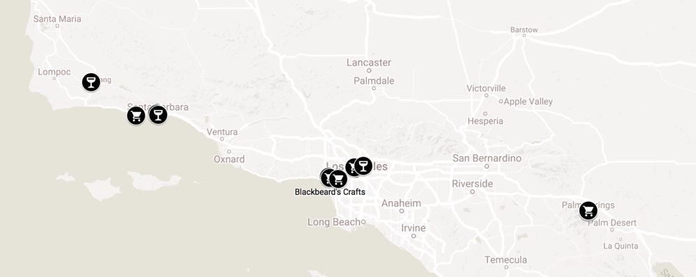 A sampling of our new locations throughout Southern California