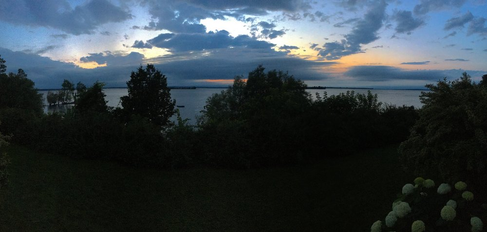 Lake Champlain, sunset before the rain
