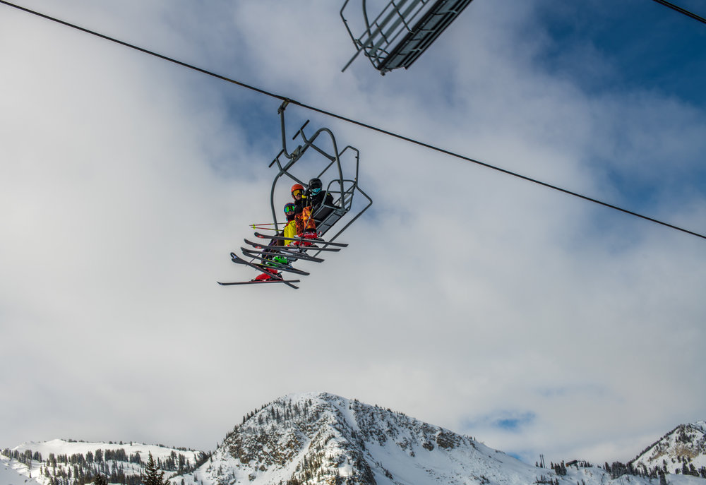 Athletes on the  Brighton Ski Team . Photo by Chris Monte (  Instagram ,  website )