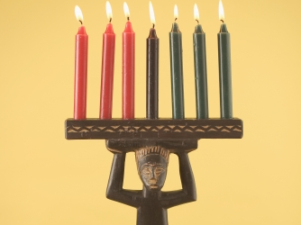 Kwanzaa Candle Holder...A candle is lit on each of the 7 days during Kwanzaa.