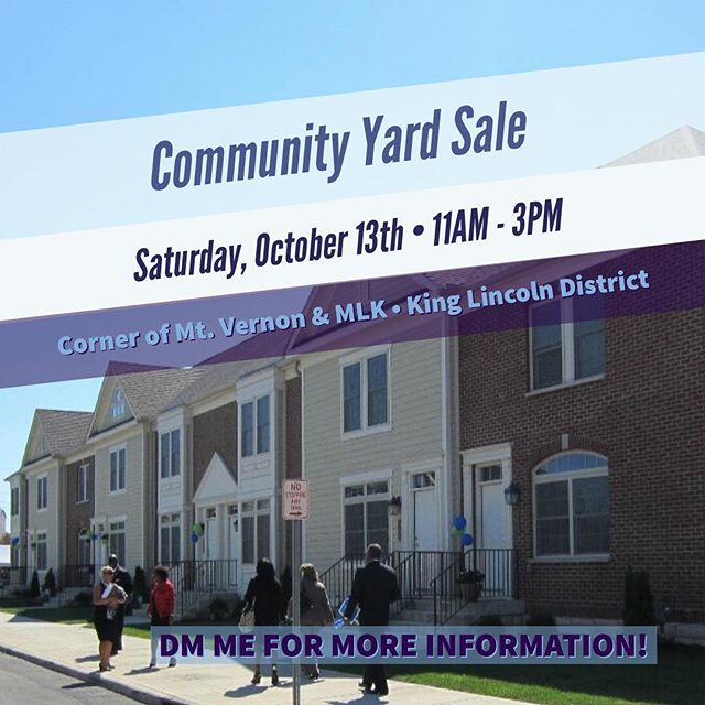 What up Black Married Life Family!!! If you're in Columbus, come out to our community yard sale at the corner of Mt. Vernon Avenue & MLK!!! DM us if you have any questions.