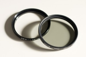 Neutral density filter and step up ring.