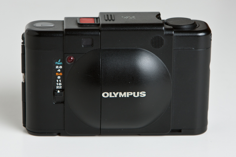 A photograph of an Olympus XA 35mm Camera