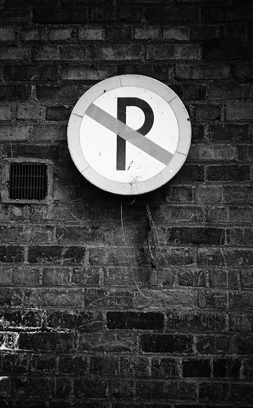 A no parking sign in Dublin, Ireland