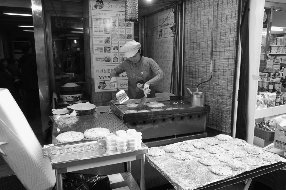 Food Vendor in Namdaemun market