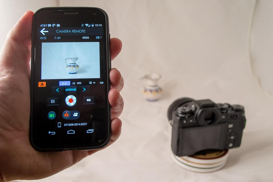 Remote app controlling the camera