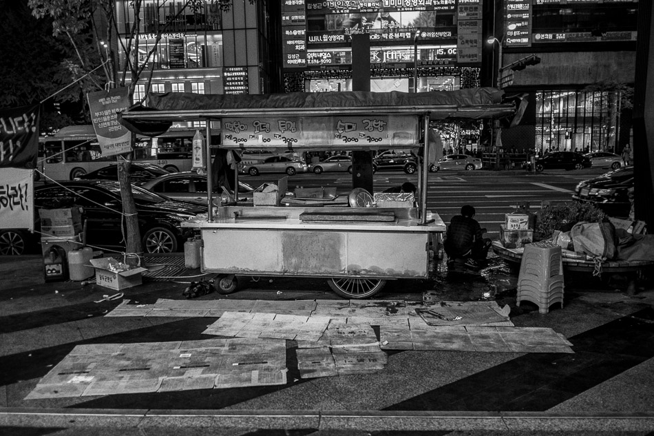 Aftermath of Street Vendor Eviction, Gangnam, Seoul