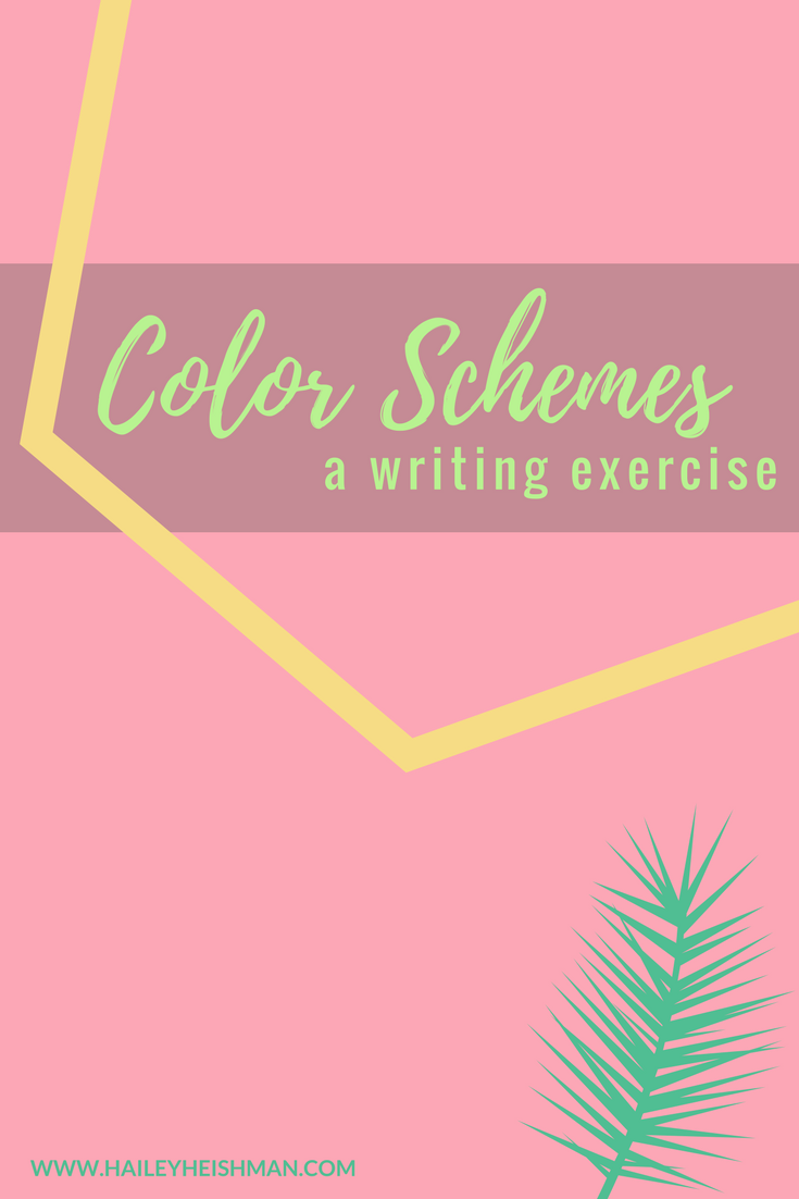 color schemes writing exercise