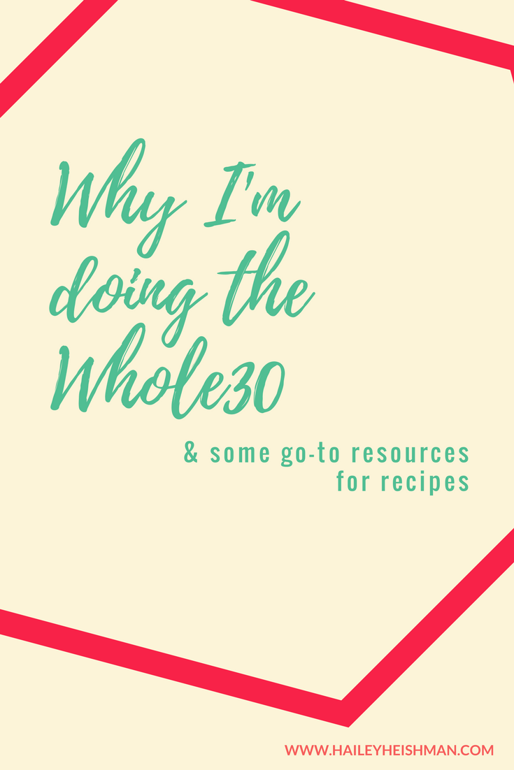 Why I'm Doing Whole30 (and resources)