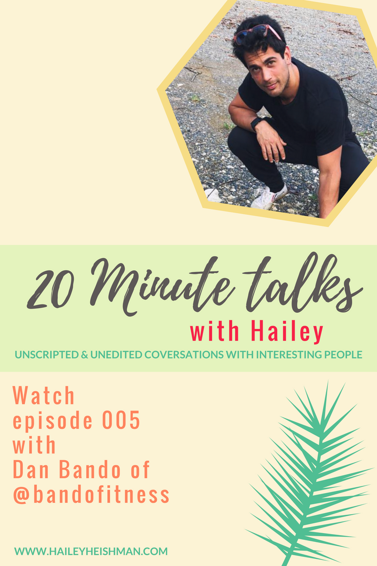 20 minute talks with Dan Bando