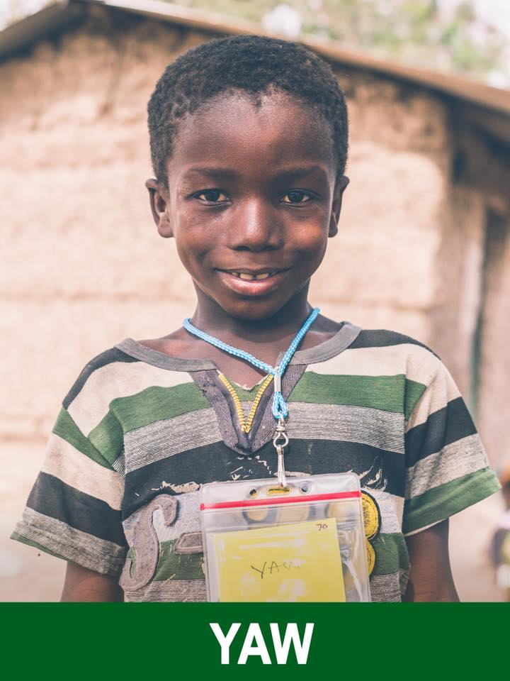 Yaw - Sponsored - Yaw is 6 years old and wants to be a teacher. He is very sweet and a little shy.