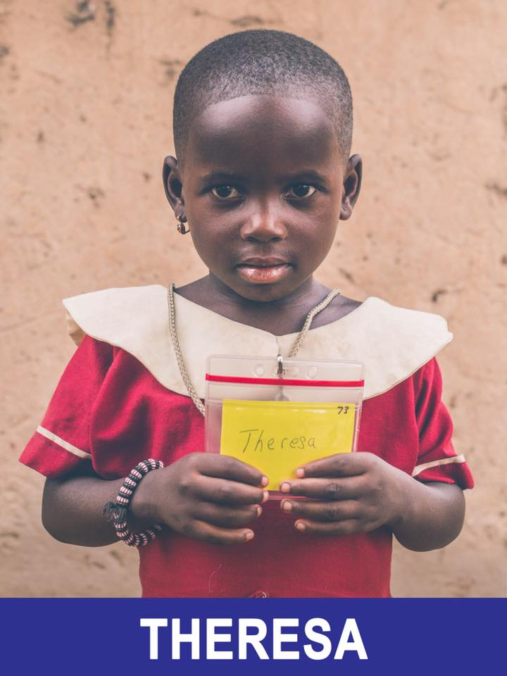 Theresa -Sponsored -  this sweet girl is 4 years old, and is excited to learn English.