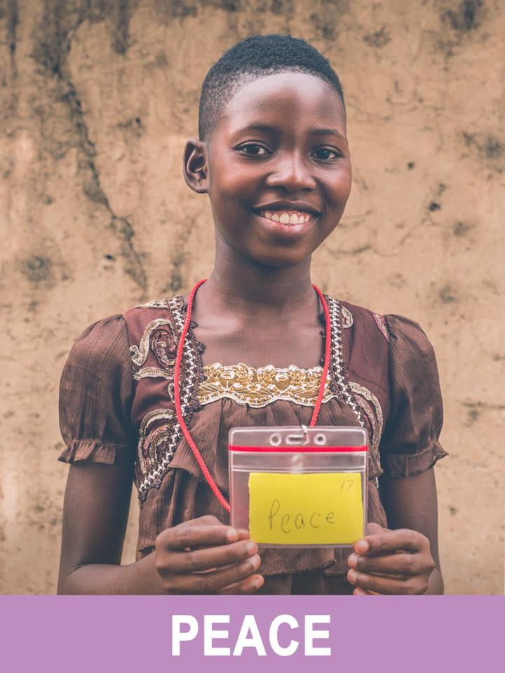 Peace - Sponsored -  Peace is 12 years old and wants to be a teacher.