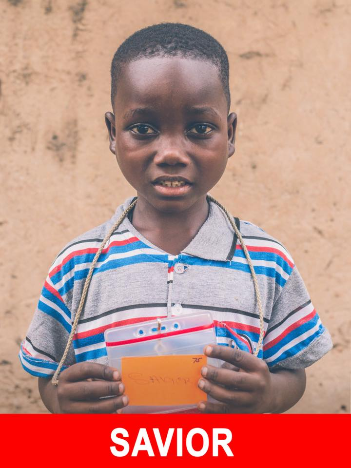 Savior - Available - Savior is 7, likes soccer, and wants to become a doctor.