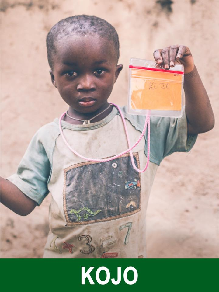 Kojo - Sponsored -  Kojo is 4 and wants to be in the army.