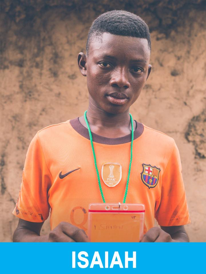 Isaiah - Sponsored -  Isaiah is 17, loves sports, and wants to become a journalist.