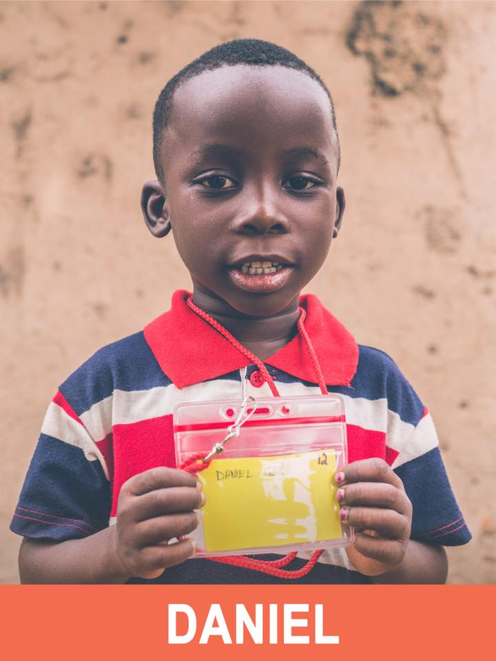 Daniel - Sponsored -  Daniel is 6 years old and wants to be a bank manager.