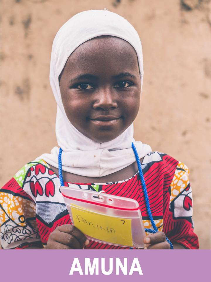 Amina - Sponsored - She is 4 and wants to teach.