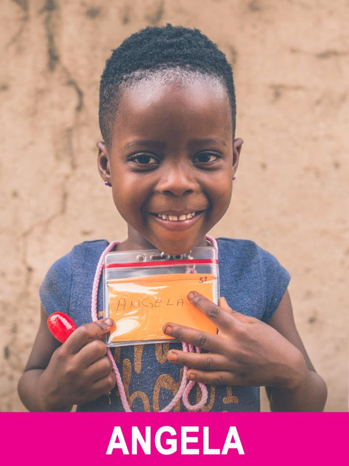 Angela - Sponsored -  She is 5, wants to be a nurse, and has a wonderful laugh and smile.