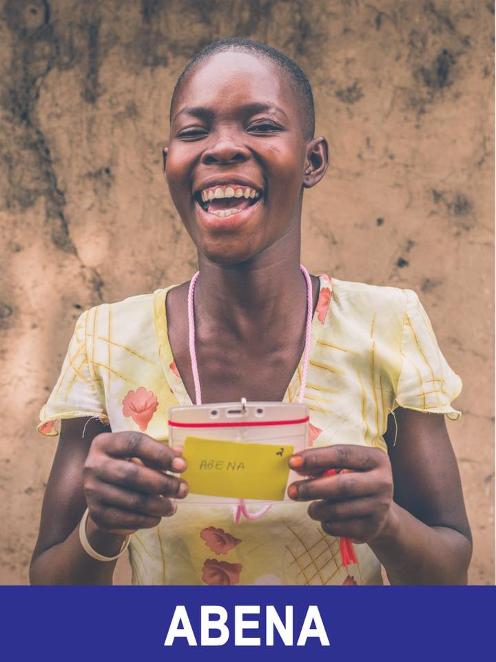 Abena - Sponsored -  This girl has an infectious smile, is 16, and wants to be a nurse.