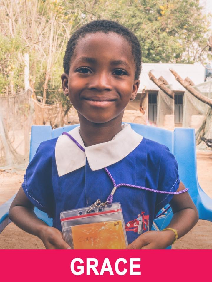 Grace - Sponsored -  Grace is 5 years old and wants to be a nurse.