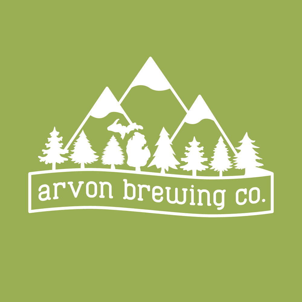 Arvon Brewing Co White on Green Logo.png