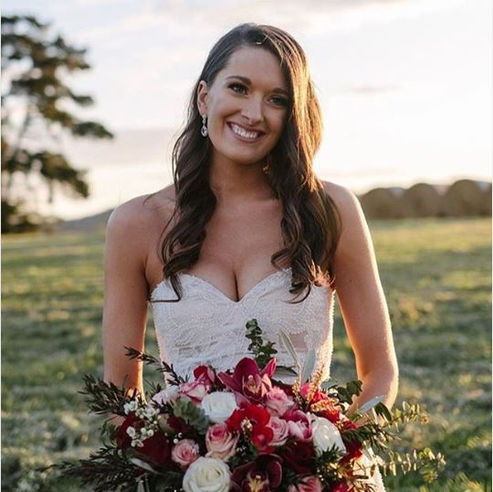 Burgandy Bridal Flowers
