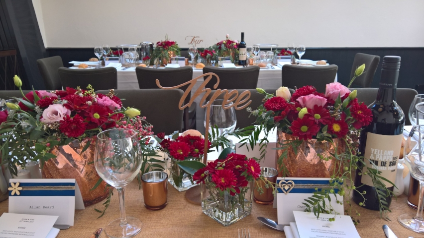 Marsala and Copper Tablescape