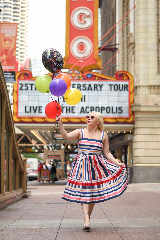 fashion blog Chicago theater 1