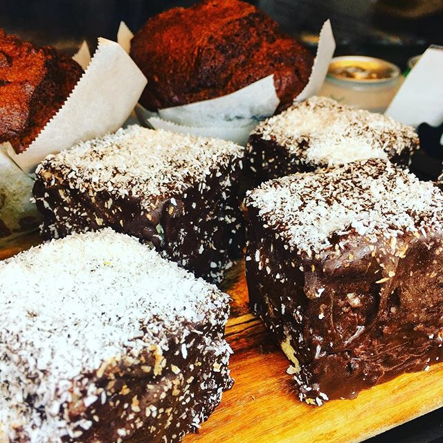 Happy Straya Day Mates.....pop in and munch on a GF Lamington over the long weekend 🇦🇺 #organic #glutenfree #australiaday #manlylocal #sydneycafe #manlybeach