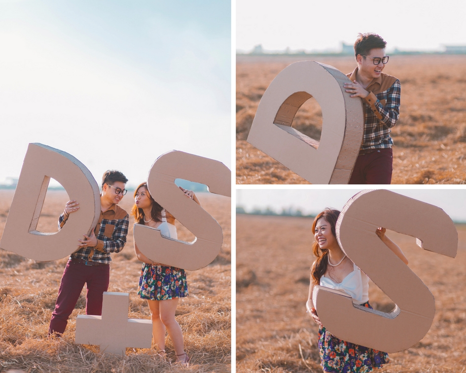 Pre-Wedding Photoshoot in Sekinchan, Malaysia | Wedding Couples in Shuttering Hearts