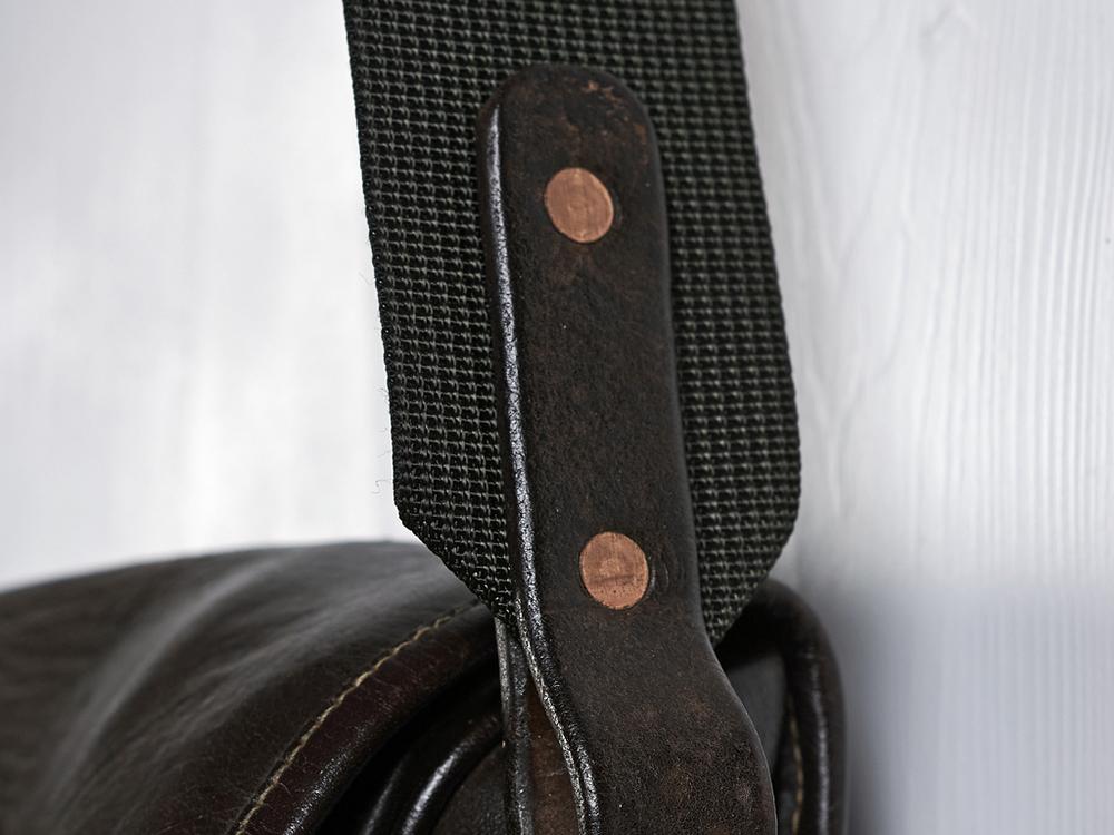 Leather bag strap