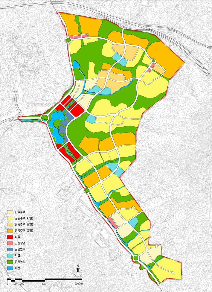 용인동백신도시 마스터플랜 및 지구단위계획, 1998년