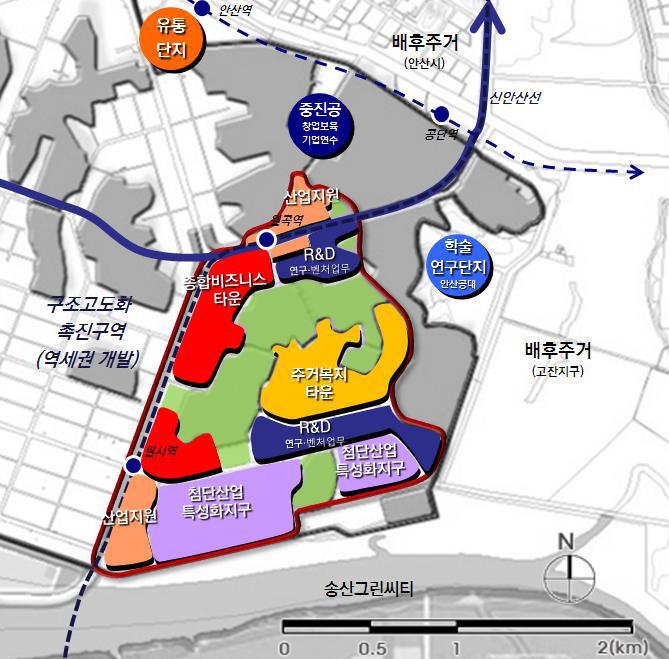 반월시화국가산업단지 구조고도화계획 수립, 2010년