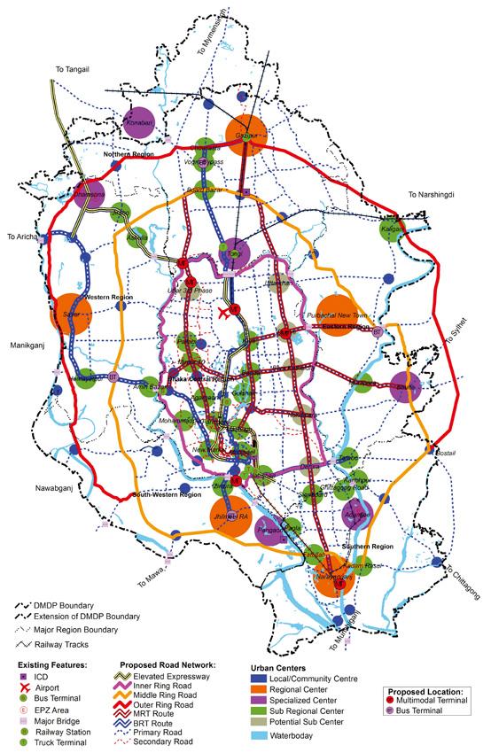 방글라데시 다카 지역개발계획, 2014년