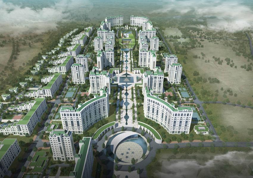 투르크매니스탄 아쉬하바다 15구역 도시개발 제안, 2014년
