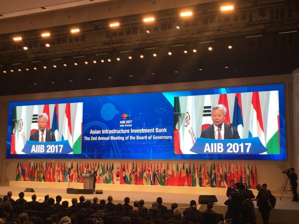 개막식-진리췬(金立群)AIIB 총재
