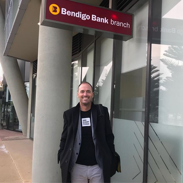 Freezing day in Melbourne yesterday but great catching up with the folks at #bendigobank and #anzbank