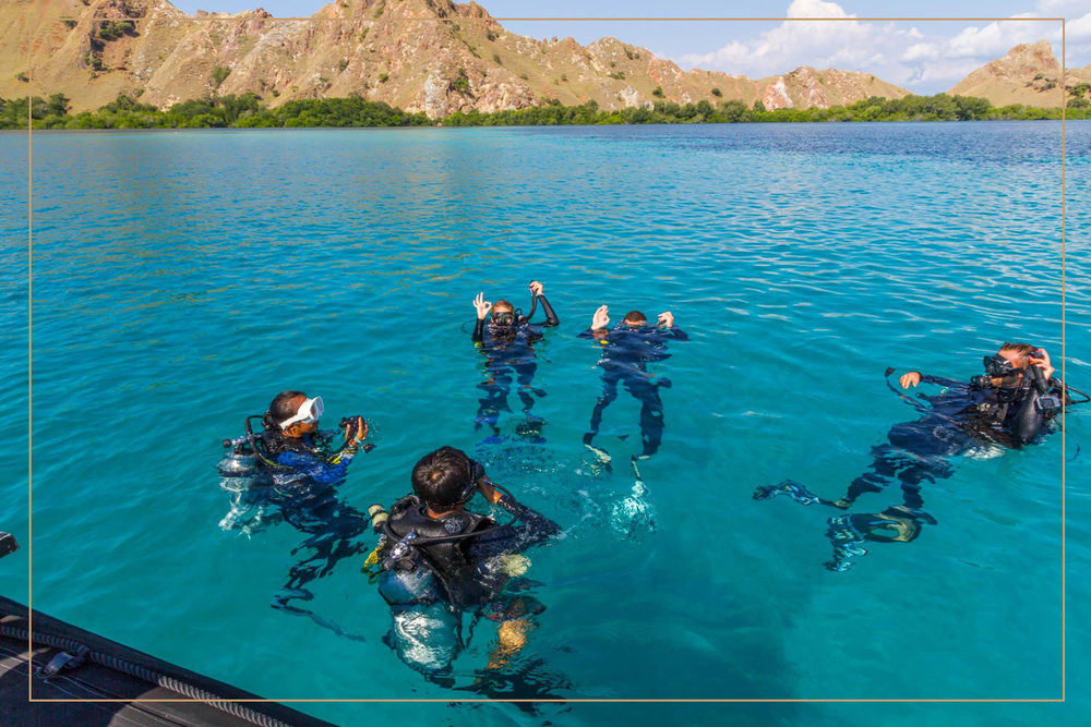DIVING IN KOMODO - The natural park of komodo is huge and composed of many small islands such as Rinca, Padar and dozens of bays, There are so many different kind of ideal diving sites that are simply the doors to a wonderful world full of exotic creatures and jaw-dropping natural beauties. Kelena adventure hosts three diving sessions per day per person, being able to satisfy all you diving enthusiasts.