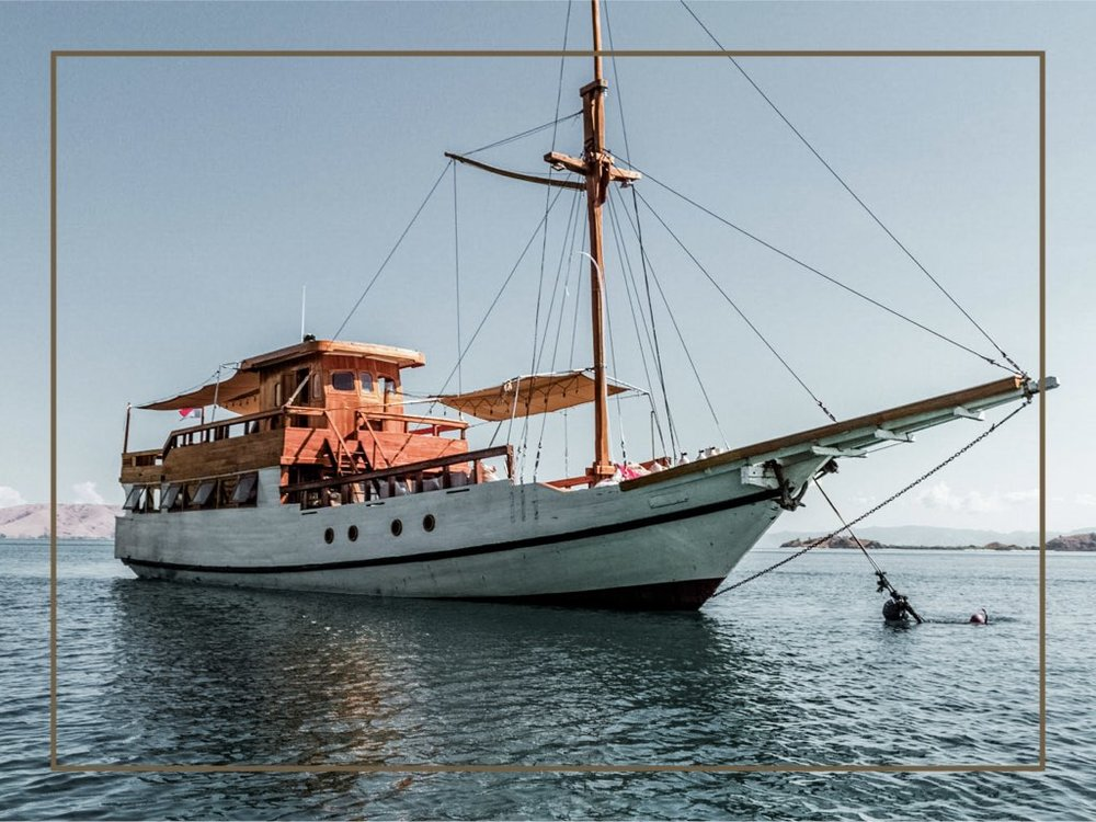 - Kelana, translated as explore, is a private boat to liveaboard and explore the most gorgeous island destinations, including Komodo National Park. Specially designed for an exclusive liveaboard experience, Kelana has 3 beautiful cabins which fit perfectly for maximum of 6 passengers. You will be indulged with a tasty dining prepared by our chef and enjoy the breathtaking view where you surrounded by the crystal clear water and the magnificent mountains around. Get ready to have the best unforgettable moment of your life with Kelana.