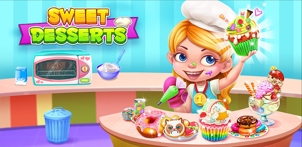 Sweet Desserts Food Maker  Make cupcake,donut,sundae,ice cream and cookie in this sweet desserts food maker