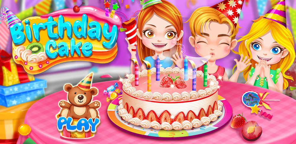 Sweet Birthday Cake Maker               Birthday Cake Party's on. Be a chef to bake yummy cake, sweet dessert with fun.
