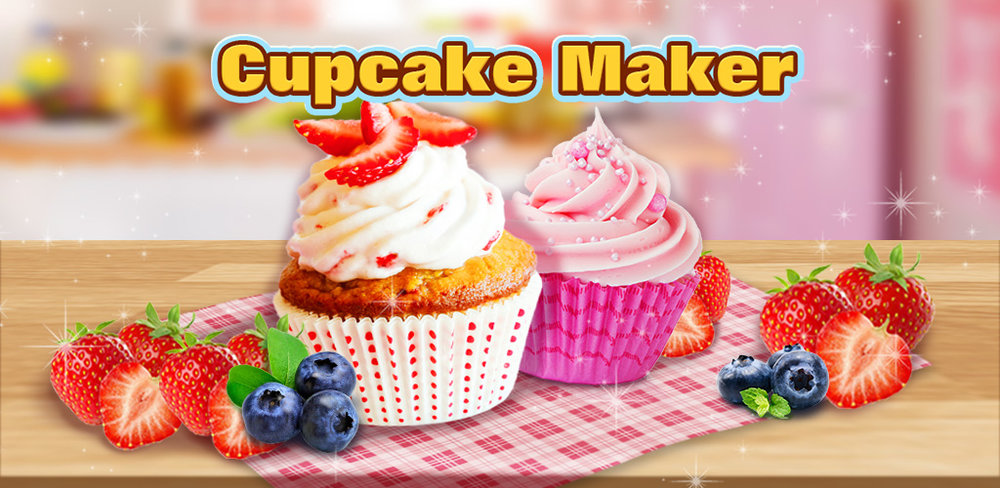 Strawberry Short Cake Maker!              Bake a merry berry shortcake NOW! Make creamy, tasty cupcake, decorate & eat it