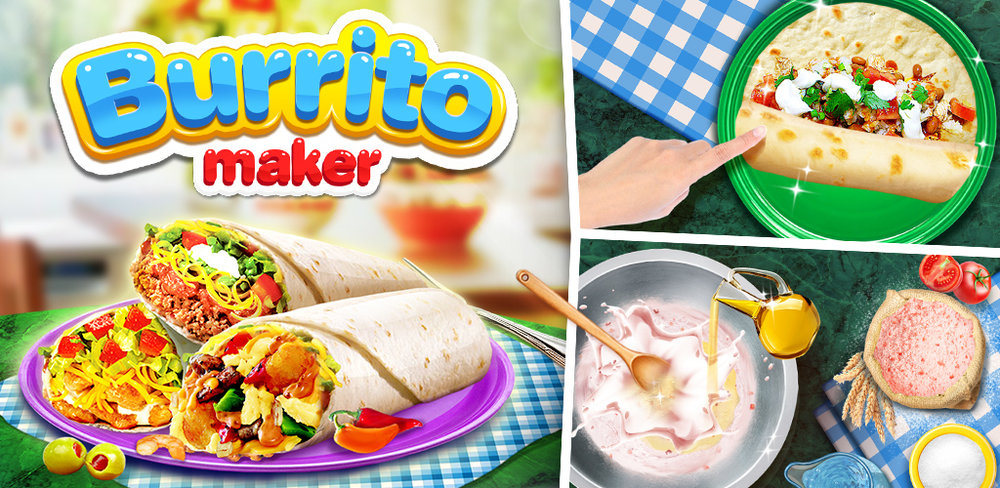 Burrito Maker  FRESH tortilla DIY Burrito! Make, decorate and eat the BEST Mexican food
