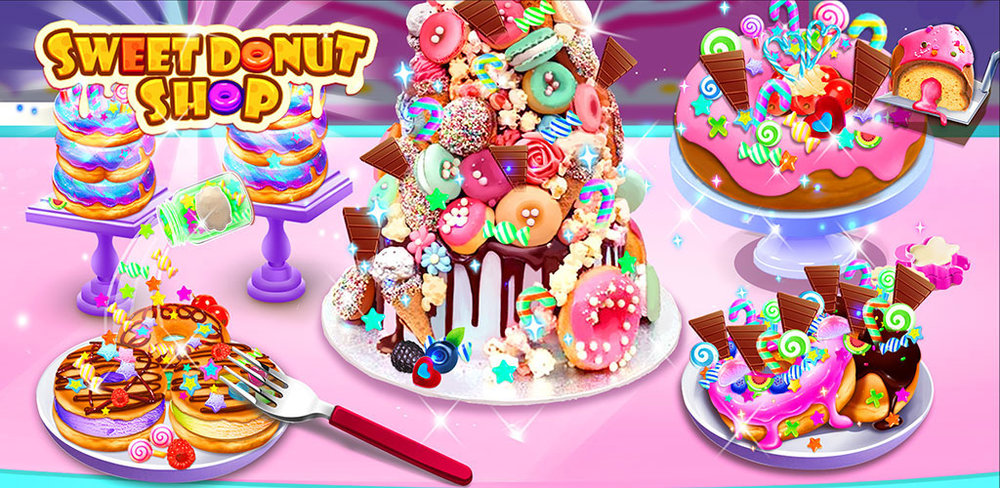 Make Rainbow Unicorn Donuts  Run your own donuts shop! Make the yummiest donuts for your customers
