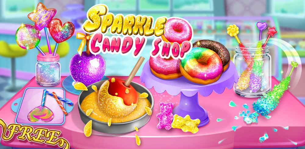 Sparkle Princess Candy Shop - Glitter Desserts!  SUPER Unicorn, Galaxy, Rainbow, Sparkling Candies. Come and make yummy candies!