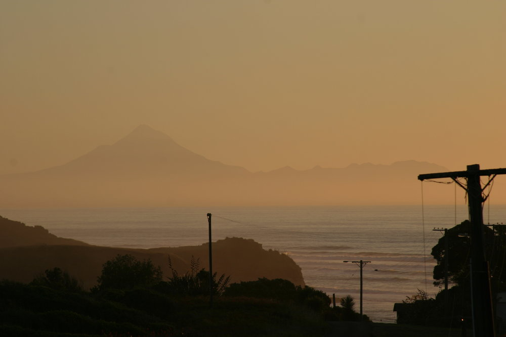 Sunset from Mokau Motel