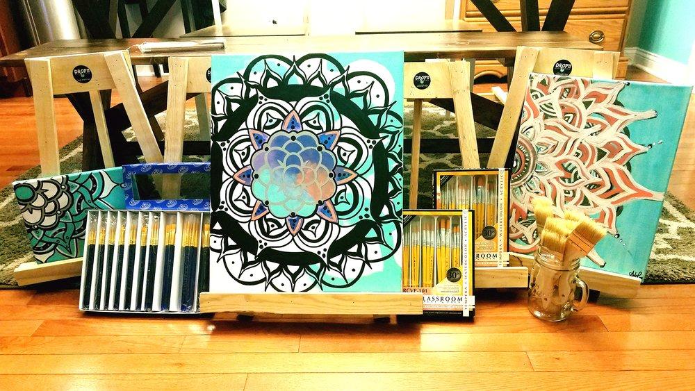 Acrylic Mandala Canvas Art & Image Taken & Edited by: Amy Warner -Drop11 Artwork-